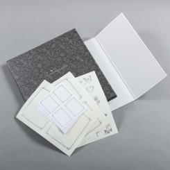 Erinnerungstafel mit Silberrand, inkl. Silber geprägten Etiketten in einer Schmuckbox