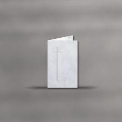 Trauerkarten, hochdoppelt, Marmor Classic mit Kreuz