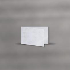Trauerkarten, querdoppelt, Marmor Classic
