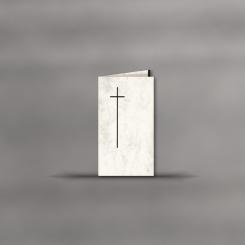 Trauerkarten, hochdoppelt, Motiv mit Kreu