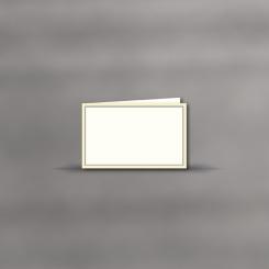 Trauerkarten, querdoppelt, 2-farbiger Rand