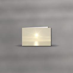 Trauerkarten, querdoppelt, Horizont
