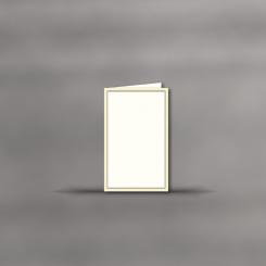 Trauerkarten, hochdoppelt, 2-farbiger Rand