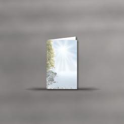 MAYSPIES® Premium Trauerkarten, hochdoppelt, Spätsommer