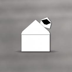 Enveloppes de deuil, cadre de 1mm