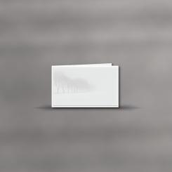 Trauerkarten, querdoppelt, Nebel