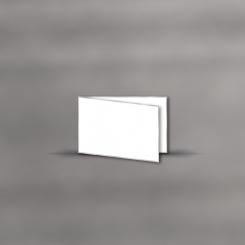 Trauerkarten, querdoppelt, 2 mm silber gerändert