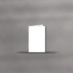 Trauerkarten, hochdoppelt, 2 mm silber gerändert