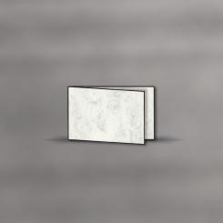 Trauerkarten, querdoppelt, Marmor, 2 mm Fein gerändert