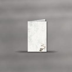 Trauerkarten, hochdoppelt, Marmor Steine